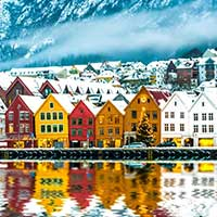 ticket SAS Scandinavian Airlines - Bergen